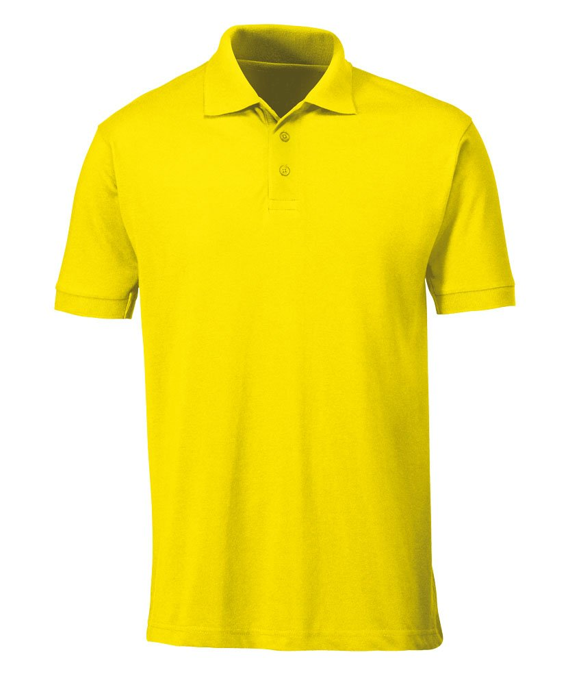 65/% Polyester//35/% Cotton Plain 5X-Large Alexandra STC-NM231YE-5XL Unisex Polo Shirt Yellow