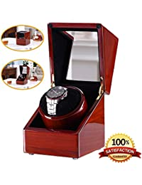 [New Style Rubber Wood] Love Nest wood Automatic Single Watch Winder Piano Finish Pure Handmade watch winder with Automatic Japanese Mabuchi Motor(power included)