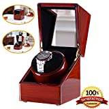 Rubber Wood Love Nest wood Automatic Single Watch Winder Piano Finish Pure Handmade watch winder with Automatic Japanese Mabuchi Motor(power included)