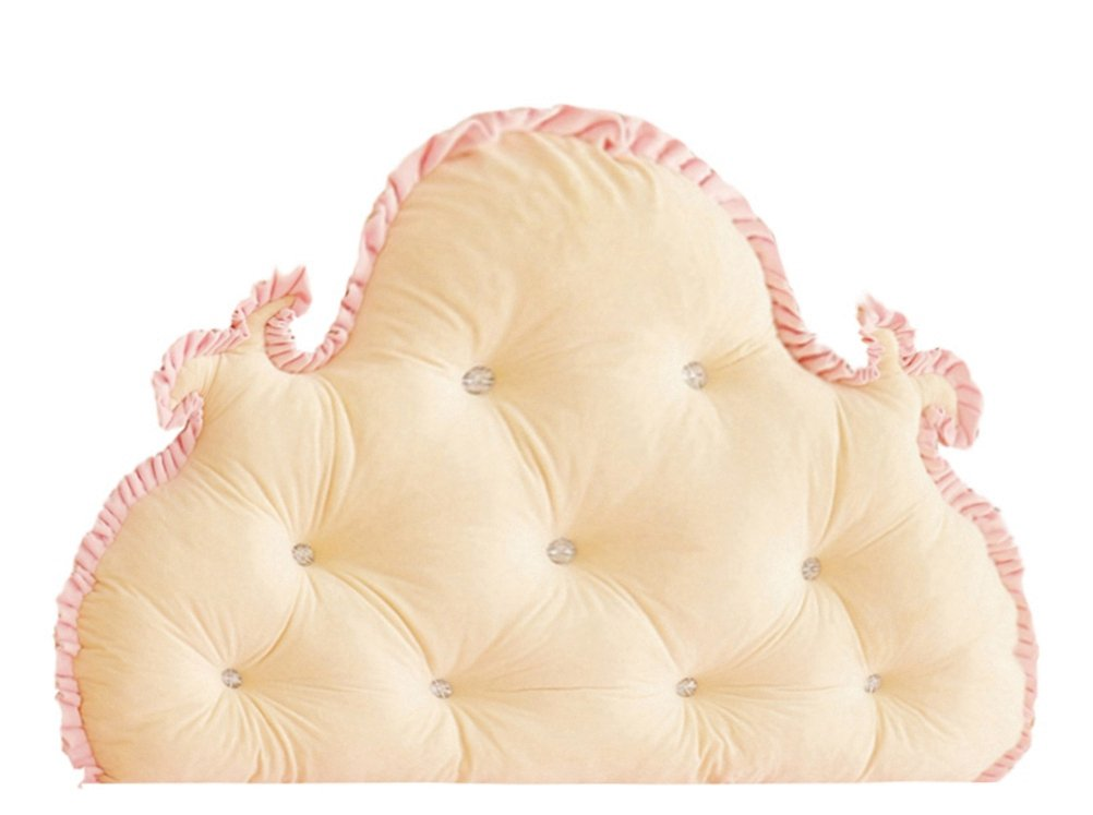 Ruffles Filled Bed Backrest Velvet Triangular Wedge Cushion LivebyCare Sofa Back Positioning Support Reading Pillows Home Office Lumbar Pad with Removable Cover