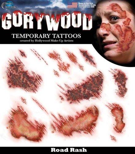 Road Rash Halloween Makeup (Tinsley Transfers Temporary Tattoo - Road)