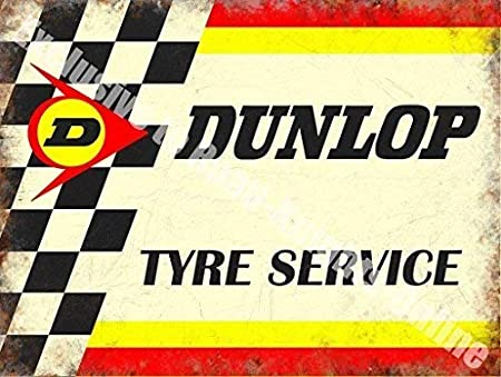 Cartel De Acero Para Pared Dunlop