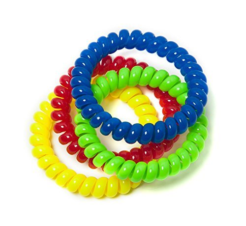 Chewable Jewelry Large Coil Bracelet - Fun Sensory Motor Aid - Speech And Communication Aid - Great For Autism And Sensory-Focused Kids 4 Pack 4 -