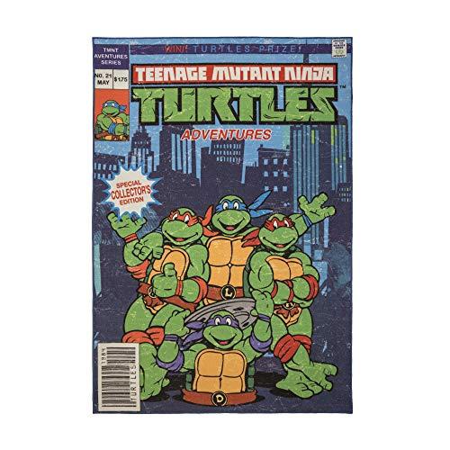 Gertmenian Nickelodeon Ninja Turtles Rug TMNT Carpet, 5x7 Large, Blue