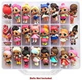 #4: HOME4 Double Sided Storage Container - Toy Organizer Case - 48 Compartments - Perfect for Small Dolls and Toys
