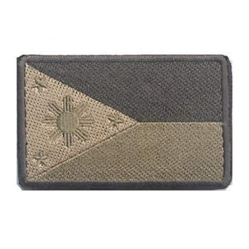 (ShowPlus Philippines PH Flag Military Embroidered Tactical Patch Morale Shoulder Applique)