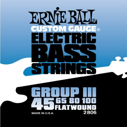 Ernie Ball Flatwound Bass Set Group III, .045 - .100
