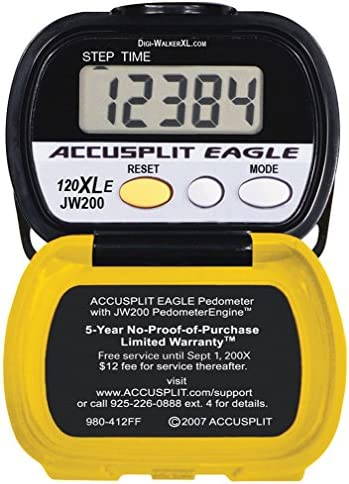 Accusplit AE120XLE-XBX Step Pedometer with Auto Activity Timer