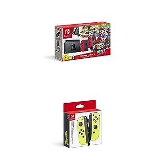Nintendo Switch - Consola + Super Mario Odyssey Bundle (Código Descarga) + Joycon Set