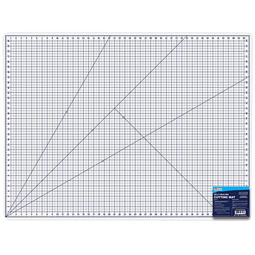 U.S. Art Supply 36″ x 48″ WHITE/BLUE High Contrast Professional Self Healing 6-Layer Double Sided Durable Non-Slip PVC Cutting Mat Great for Scrapbooking, Quilting, Sewing and all Arts & Crafts Projects