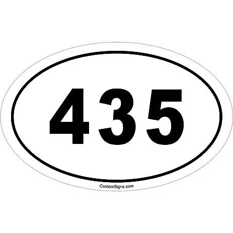 Amazoncom Area Code Bumper Sticker For Car Automotive - 435 area code