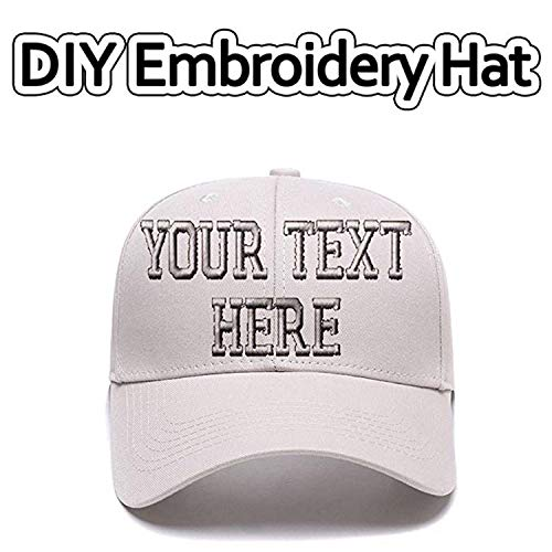 (Sports Outdoors Snapback Visors Custom Text Embroidered Dad Hats Personalized Hip Hop Curved Bill Baseball Caps Beige)