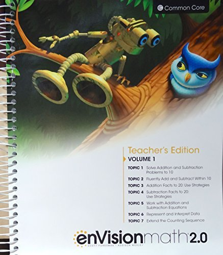 enVisionmath2.0 - 2016 Common Core Teacher Edition Volume 1 Grade 1 by Charles Bay-Williams Berry Caldwell Champagne Copley Crown Fennell Karp Murphy Schielack Suh Wray - Mall Copley