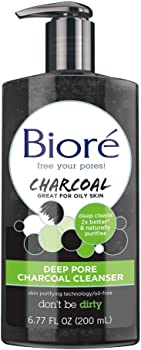 3-Count Biore Deep Pore Charcoal Daily Face Wash 6.7oz