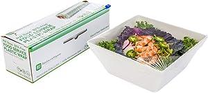Clear Plastic Food Service Food Wrap - BPA-Free - Microwave-Safe - 12
