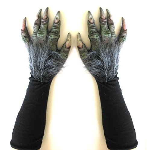 Zagone Studios Witch Gloves Green Troll Adult Costume Hands