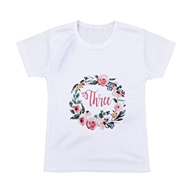Agoky Camiseta para Niñas de Manga Corta para Niño/Niña ...