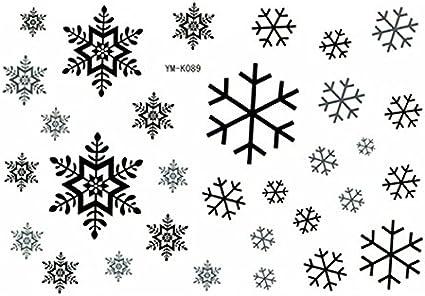 Snowflake Temporary Tattoo Waterproof Body Tattoo Stickers 2pcs Set By Tattoo Stickers Amazon Co Uk Beauty