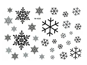 Snowflake Temporary Tattoo Waterproof Body Tattoo Stickers 2pcsset
