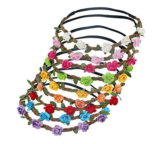 GREESHION Bohemian Flower Garland Headbands product image