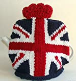 Union Jack British Flag Hand Knitted Teapot Cozy