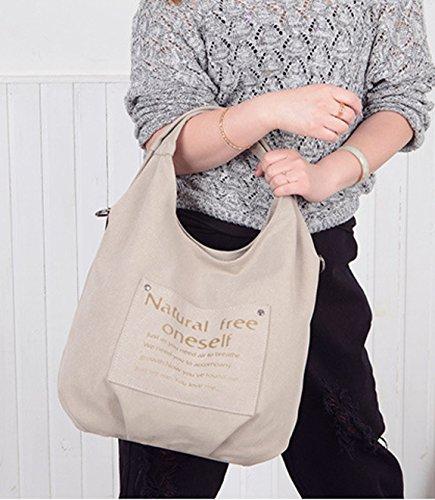 Longzibog Dual verstellbare Schultergurte und Hängeschlaufenband Mode Simple Style Fashion Tote Top Handle Schulter Umhängetasche Satchel Blau hbENlQg