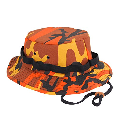 Rothco Jungle Hat, Savage Orange Camo, Medium