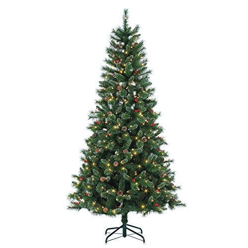 Sterling Tree Company 7.5' Hard/Mixed Needle Briarwood Pine Artificial Christmas Tree, 15