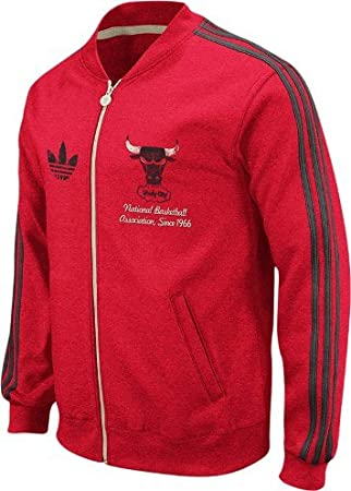 adidas Chicago Bulls Throwback Full Zip Vintage Track Jacket ...