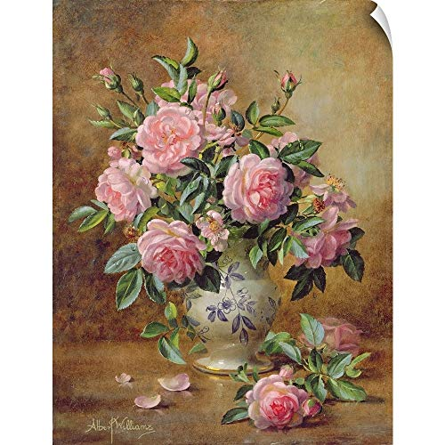 (CANVAS ON DEMAND A Medley of Pink Roses Wall Peel Art Print, 12