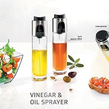 (Paquete de 2) Aceite de Vidrio Aceite de Vinagre Aceite Pulverizador para el refinamiento