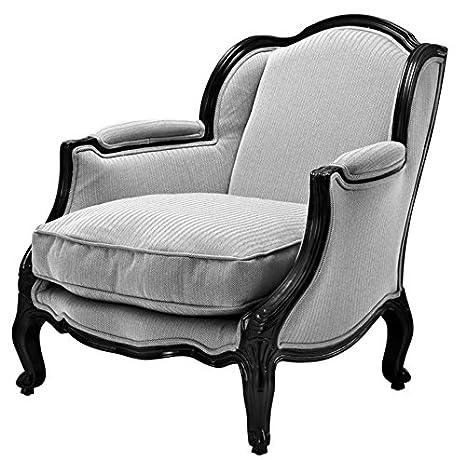 Casa-Padrino sillón de Estilo Antiguo de Lujo Negro/Blanco ...