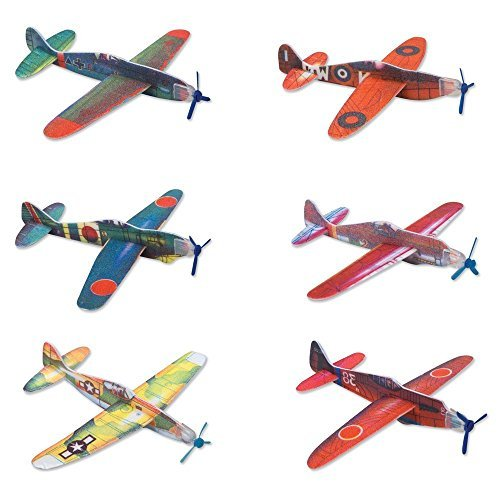 Rhode Island Novelty Glider Planes (24 (Boy Party Favors)