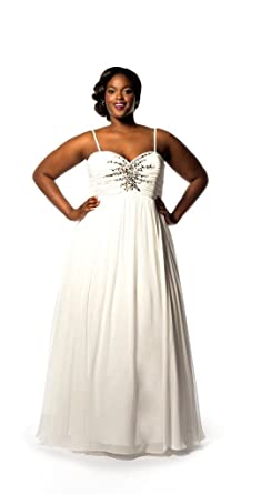 Sydney\'s Closet Women\'s Plus Size Starburst Bridal Gown at Amazon ...
