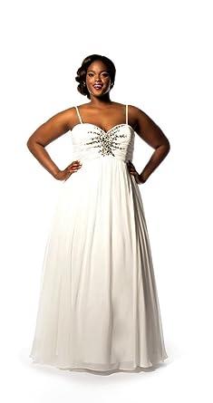 Sydney\'s Closet Women\'s Plus Size Starburst Bridal Gown 20 ...