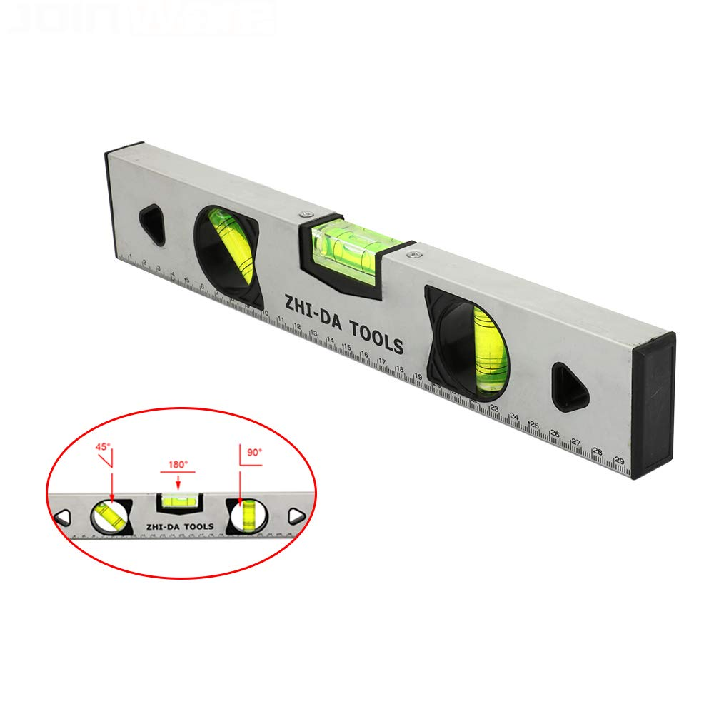 12Inch Horizontal Ruler Precision Magnetic Level Ruler Measuring Tools for Builder Building Measure 300mm
