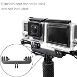 Selens Dual Hero Mount Adapter for GoPro Hero4 Hero3+ Hero3 Hero2 Hero Black Silver Cameras - fits GoPro Monopod Selfie Stick and Most GoPro Hero Accessories