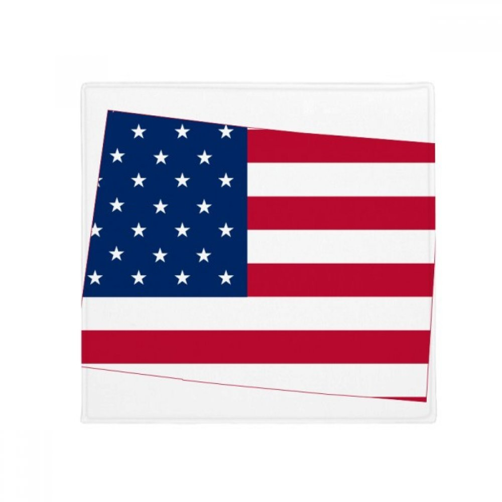 60X60cm DIYthinker colorado America Map Stars Stripes Flag Anti-Slip Floor Pet Mat Square Bathroom Living Room Kitchen Door 60 50Cm Gift