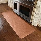 WellnessMats Estates Collection Essential Series Copper Leaf Trellis 6 x 2 Foot Anti-Fatigue Mat