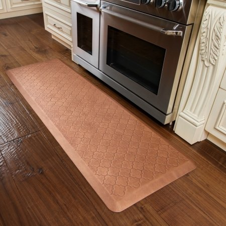 WellnessMats Estates Collection Essential Series Copper Leaf Trellis 6 x 2 Foot Anti-Fatigue Mat by WellnessMats