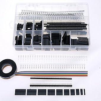 amazon.com: glarks 635pcs dupont connector housing male ... 4 pin header cn2 wiring harness