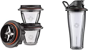 Vitamix Ascent Series Blending Bowl Starter Kit, 8 oz. with SELF-DETECT, Clear - 66196 & Ascent Series Blending Cup, 20 oz. with SELF-DETECT, Clear