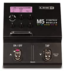 Supercharge your pedal board with a single stompbox! M5 Stompbox Modeler delivers 100+ gain-defying distortions, lush choruses, scintillating reverbs and other expressive effects in a single-pedal-size stompbox.   Just like the class...