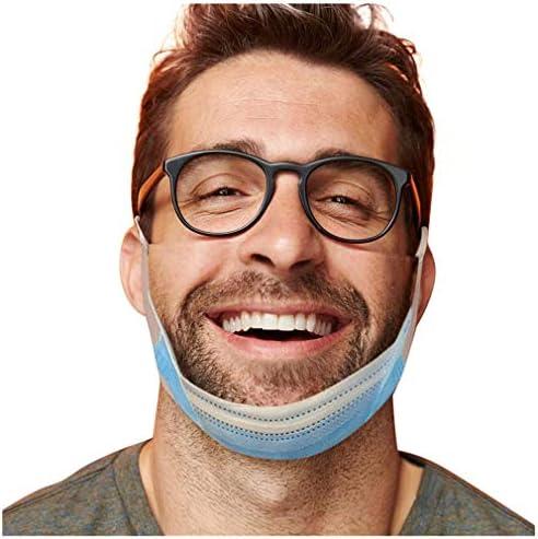 Richwu Pretend Not Wearing A Face_Mask Adulte 1pc Visage_Masque,Coton Tissu Lavable et Réutilisable, Homme Femme Drôle Humour Imprimé Protecteur