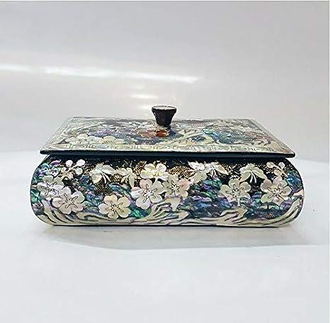 Caja de Tarjetas de Visita de nácar con diseño Tradicional Coreano ...