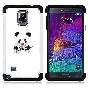 - Funny Panda Clown Graphiti - - Doble capa caja de la armadura Defender FOR Samsung Galaxy Note 4 SM-N910 N910 RetroCandy