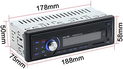 Fernbedienung Bluetooth am Armaturenbrett CCRoom Autoradio Auto-Stereoanlage USB // SD // Audio-Empf/änger // MP3-Player // UKW-Radio Digitaler Medienempf/änger Einzelne Din-Stecker-Version