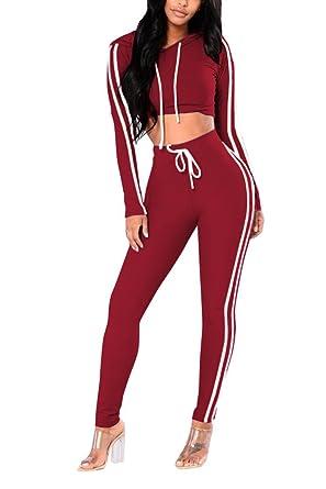 3400057f VamJump Ladies Sexy Long Sleeve Pullover Hoodie Sweatshirt Legging Pants  Suit S