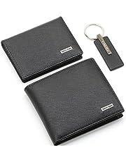 محفظة للرجال من كالفن كلاين، قطعتين ، وميدالية مفاتيح، جلد، اسود