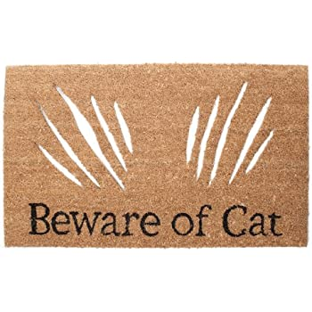Abbott Collection Coir  Beware of Cat  Doormat  sc 1 st  Amazon.com & Amazon.com : Abbott Collection Coir